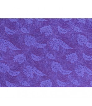 Hawaiian Poly Cotton Fabric LMH-04-331 [ Monstera ] Purple
