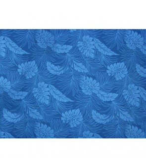 Hawaiian Poly Cotton Fabric LMH-04-331 [ Monstera ] Royal Blue