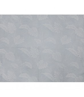 Hawaiian Poly Cotton Fabric LMH-04-331 [ Monstera ] Silver