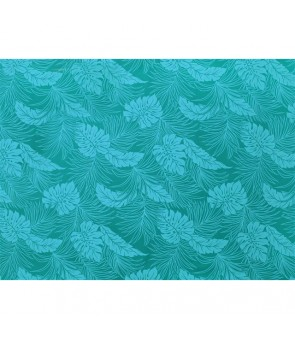 Hawaiian Poly Cotton Fabric LMH-04-331 [ Monstera ] Teal