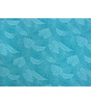 Hawaiian Poly Cotton Fabric LMH-04-331 [ Monstera ] Turquoise