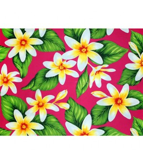 Hawaiian Poly Cotton Fabric LMH-17-863 [ Big Tiare ] Fuchsia