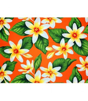 Hawaiian Poly Cotton Fabric LMH-17-863 [ Big Tiare ] Orange
