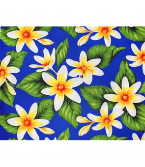 Hawaiian Poly Cotton Fabric LMH-17-863 [ Big Tiare ] Royal Blue