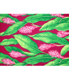 Hawaiian Poly Cotton Fabric LMH-18-871 [ Ginger ] Fuchsia