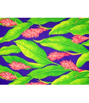Hawaiian Poly Cotton Fabric LMH-18-871 [ Ginger ] Purple