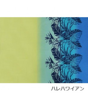 Hawaiian Poly Cotton Fabric LW-13-334 [ Leaf Bouquet / Gradation ] Turquoise Teal