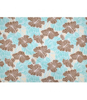 Hawaiian Poly Cotton Fabric LW-18-679 [ Hibiscus & Protea ] Cream Brown
