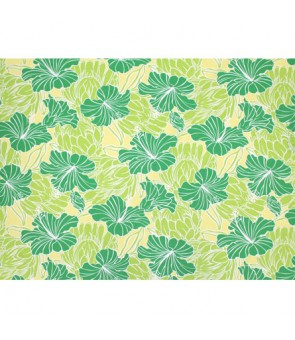 Hawaiian Poly Cotton Fabric LW-18-679 [ Hibiscus & Protea ] Green