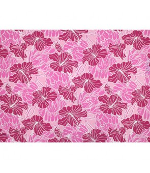 Hawaiian Poly Cotton Fabric LW-18-679 [ Hibiscus & Protea ] Pink