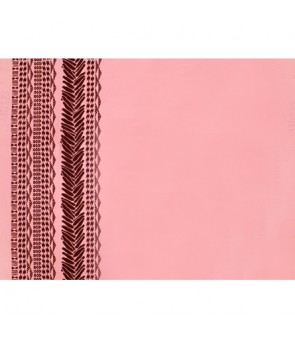 Hawaiian Poly Cotton Fabric LW-18-682 [ Heliconia Lei Border ] Coral