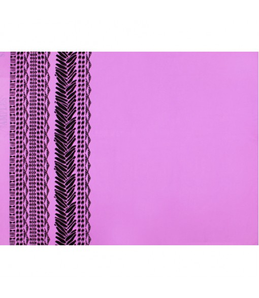 Hawaiian Poly Cotton Fabric LW-18-682 [ Heliconia Lei Border ] Orchid