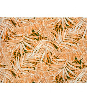 Hawaiian Poly Cotton Fabric LW-19-693 [ Palm Banana Leaf ] Orange Fern