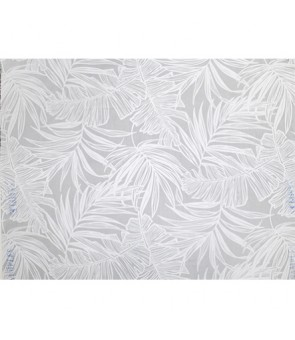 Hawaiian Poly Cotton Fabric LW-19-693 [ Palm Banana Leaf ] White