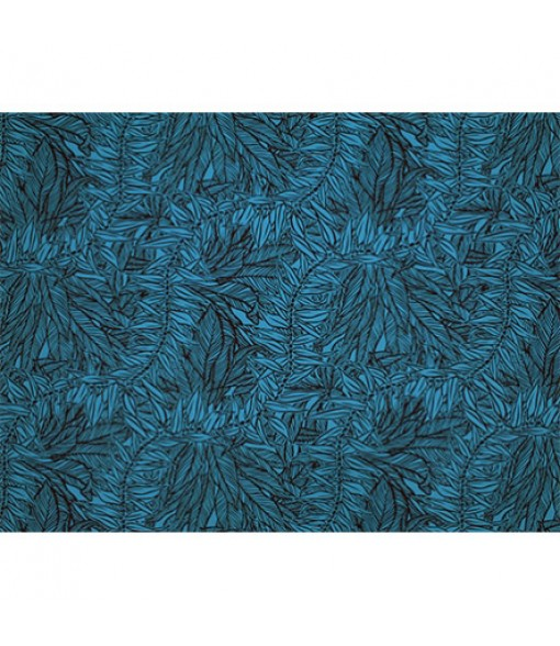 Hawaiian Poly Cotton Fabric LW-19-713 [ Reel & Lei ] Black Teal