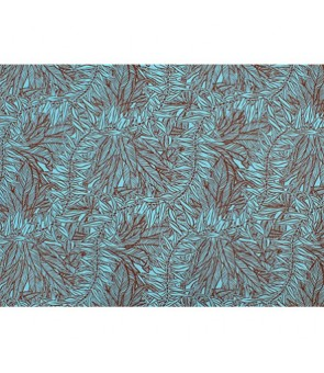 Hawaiian Poly Cotton Fabric LW-19-713 [ Reel & Lei ] Brown Blue