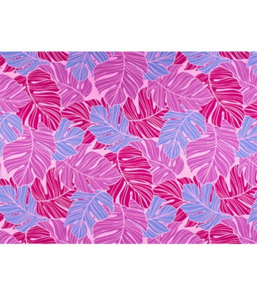Hawaiian Poly Cotton Fabric LW-19-734 [ All Over Monstera ] Pink
