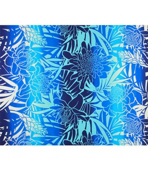 Hawaiian Poly Cotton Fabric LW-19-747 [ Ginger ] Blue