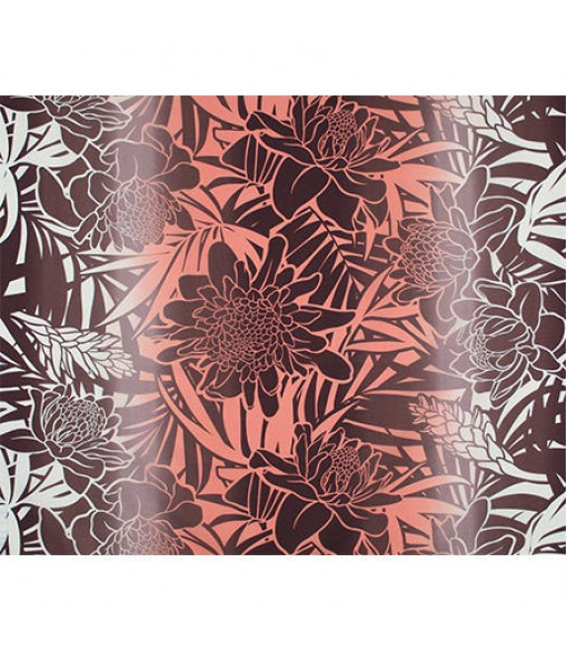 Hawaiian Poly Cotton Fabric LW-19-747 [ Ginger ] Coral Brown