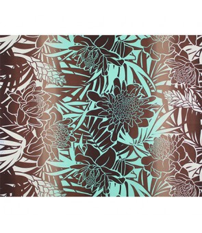 Hawaiian Poly Cotton Fabric LW-19-747 [ Ginger ] Seagreen Brown