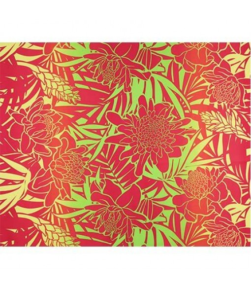 Hawaiian Poly Cotton Fabric LW-19-747 [ Ginger ] Yellow Pink