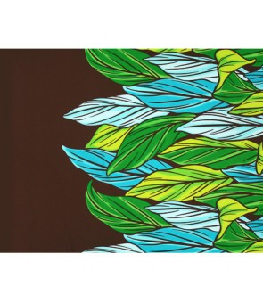 Hawaiian Poly Cotton Fabric LW-20-756 [ Color Ti Leaf ] Brown