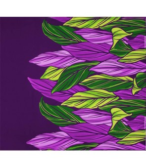 Hawaiian Poly Cotton Fabric LW-20-756 [ Color Ti Leaf ] Purple