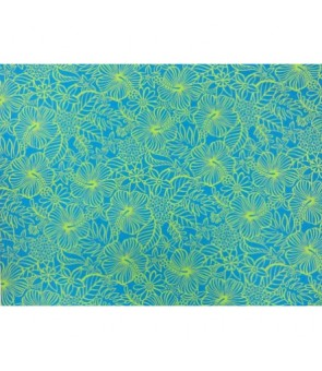 Hawaiian Poly Cotton Fabric MY-11-76 [ Floral ] Blue