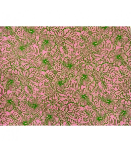 Hawaiian Poly Cotton Fabric MY-11-76 [ Floral ] Pink