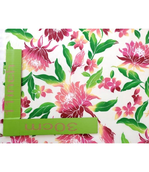 Hawaiian Poly Cotton Fabric OW-018 [ Ceres ] Natural