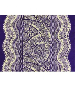 Hawaiian Poly Cotton Fabric QSQ-11-711 [ Panel Tapa ] Purple Cream