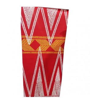 Hawaiian Poly Cotton Fabric TKJ-13-712 [ Kahiko Pattern-Tapa ] Red White Yellow