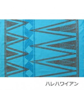 Hawaiian Poly Cotton Fabric TKJ-13-712 [ Kahiko Pattern-Tapa ] Turquoise