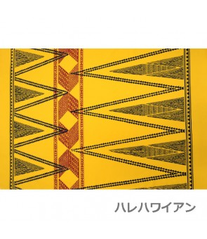 Hawaiian Poly Cotton Fabric TKJ-13-712 [ Kahiko Pattern-Tapa ] Yellow