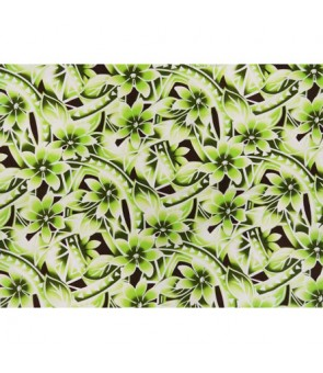 Hawaiian Poly Cotton Fabric WU-15-20 [ Gradation Tiare Tapa ] Green