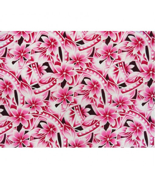 Hawaiian Poly Cotton Fabric WU-15-20 [ Gradation Tiare Tapa ] Pink