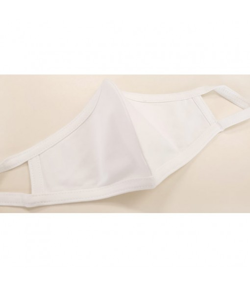 Hawaiian Unisex Face Mask [ Stretch Plain ] White