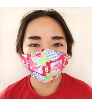 Hawaiian Kid's Face Mask [ Dolphin ] Pink
