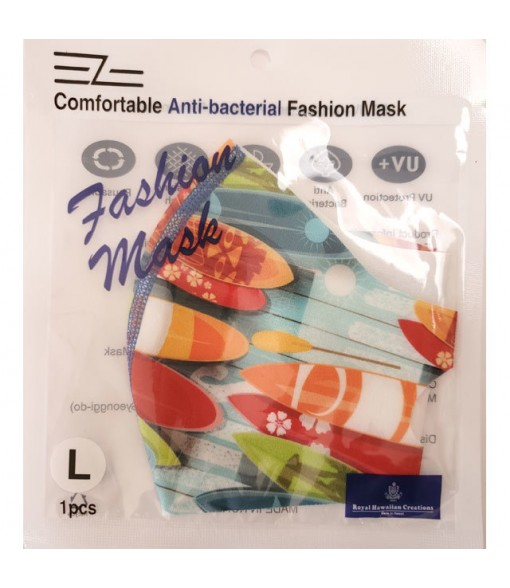 Hawaiian Unisex Spandex Face Mask [ Surfboard ] Aqua