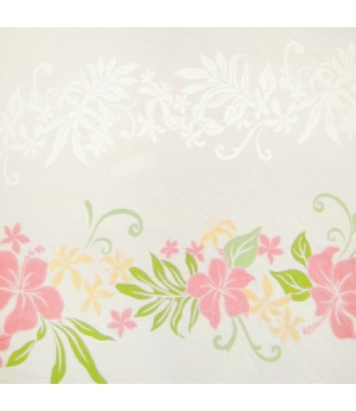 Hawaiian Rayon Fabric [ Lene Panel ] White